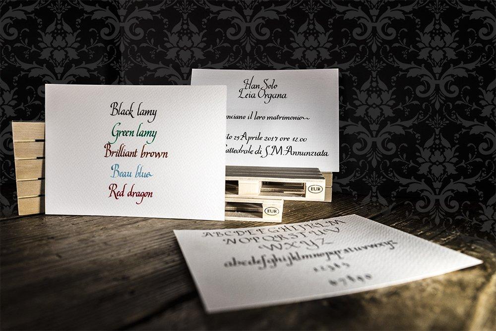 matrimonio esclusivo partecipazioni scritte a mano